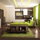 Цветовая отделка интерьеров квартиры