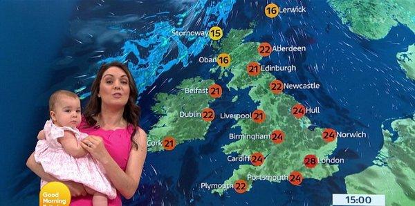 Ведущая прогноза погоды с ребёнком на руках взорвала соцсети