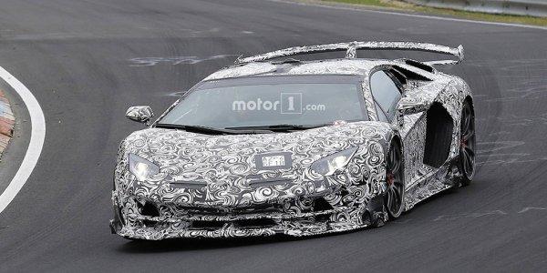 Появилось видео с Lamborghini Aventador SVJ