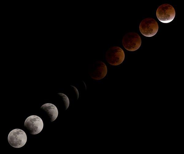 Учёные объяснили, что будет происходить с «кровавой Луной»