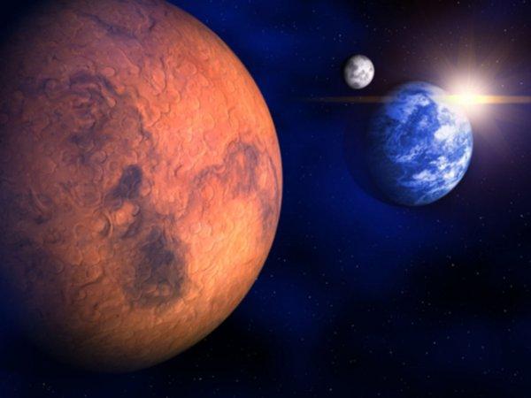 Марс приблизится к Земле на минимальное расстояние