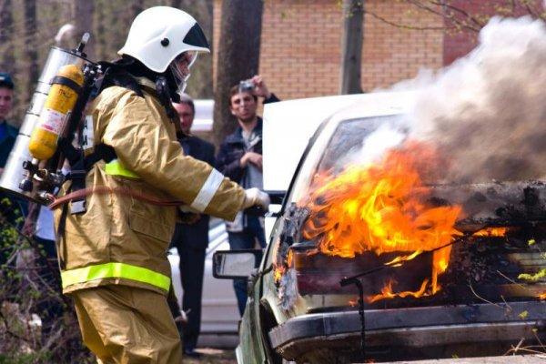 В Воронежской области в Хохольском районе полностью сгорела «Нива»