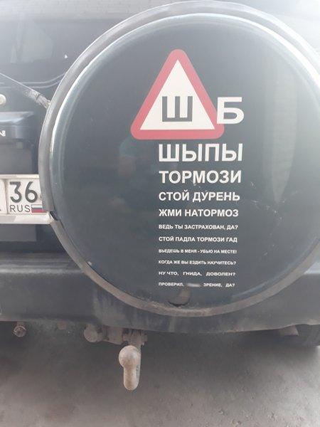 В Воронеже заметили необычную наклейку «Ш» на внедорожнике