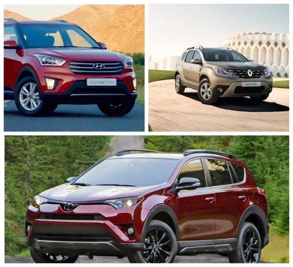 Toyota RAV4 вошёл в ТОП-3 самых популярных в России кроссоверов в июле