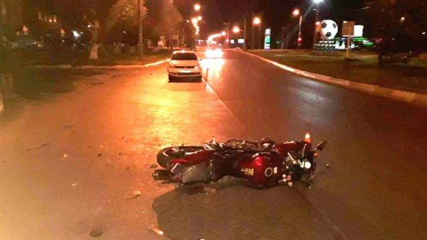 В Воронеже женщина сбила мотоциклиста с пассажиром