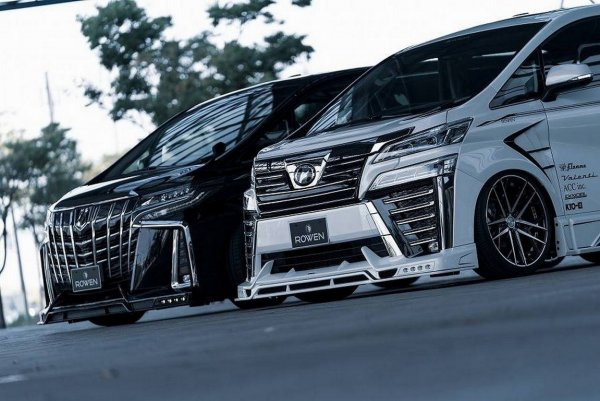 Ателье Rowen сделало минивэн Toyota Alphard брутальным