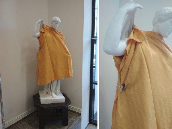РПЦ заставило голые статуи одеться