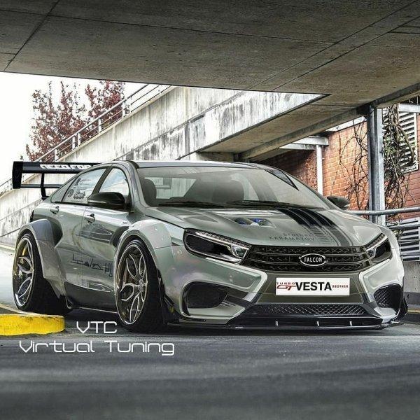 «Вот это Ладище!»: В сети обсуждают изображение суперкара LADA Vesta Sport