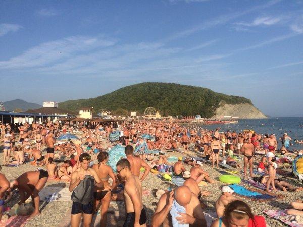 Сомнительный отдых: Приехавшие по М4 «Дон» отдыхающие заполонили пляжи Крыма