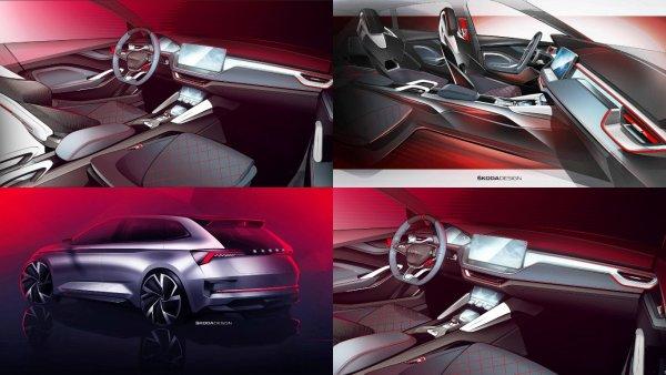 Skoda рассекретила салон концепт-кара Skoda Vision RS в сети
