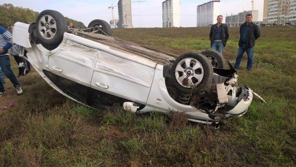В Калининграде опрокинулся Daewoo – два подростка получили травмы