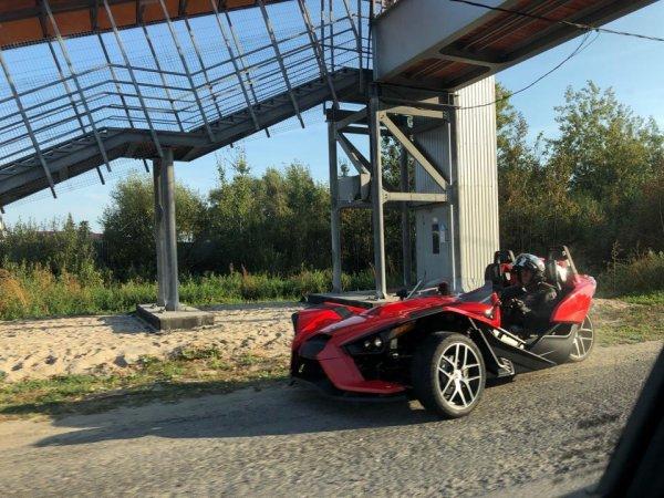«Что это за чудо?»: Необычный трёхколесный автомобиль на трассе М7 удивил сеть