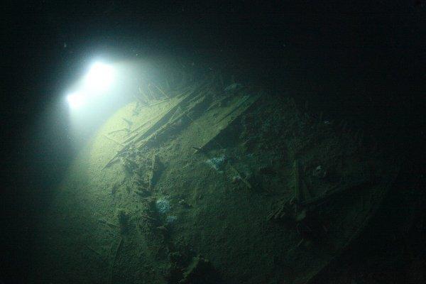На дне крымского мыса учёные обнаружили затонувший 100 лет назад корабль