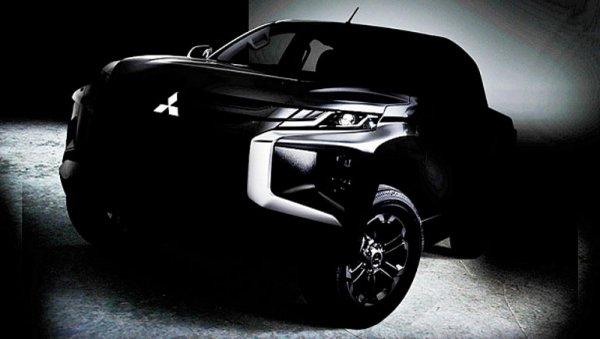Mitsubishi опубликовала первый тизер нового пикапа Mitsubishi L200