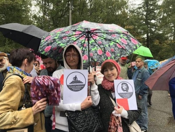 В Москве 3 000 человек приняли участие в митинге против пенсионной реформы