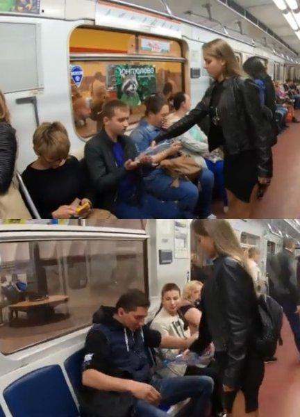 В Петербурге феминистки наказывали за широко расставленные ноги