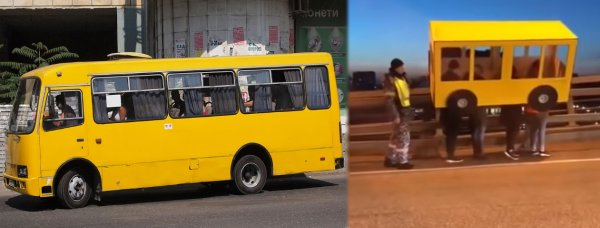 Четверо мужчин прикинулись автобусом, чтобы перейти мост в Приморье