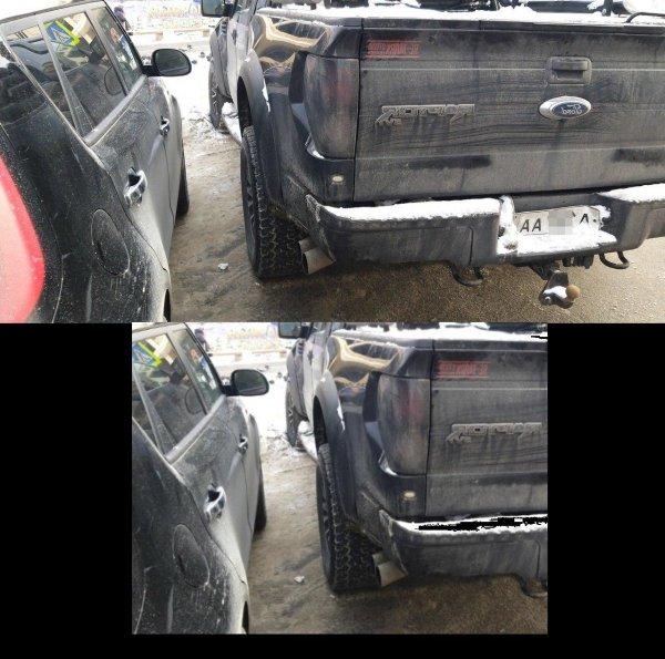 В Воронеже засняли интимную парковку с блатными номерами