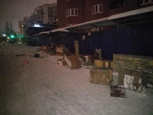 В Тюмени разгромили рынок: фото