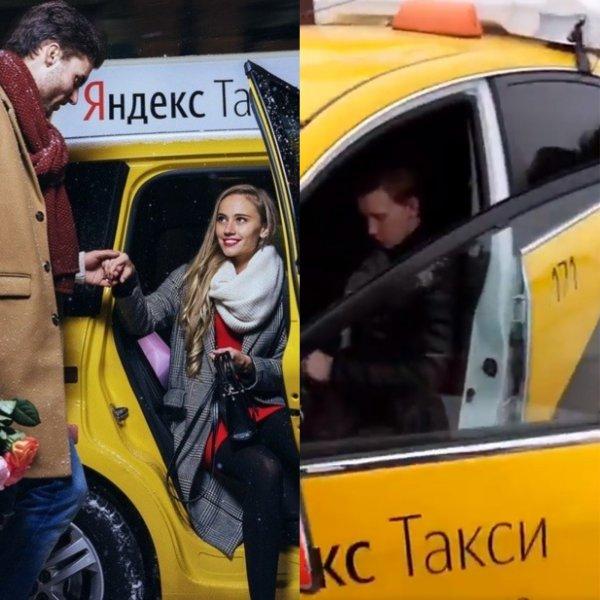Жалкое зрелище: Водитель «Яндекс. Такси» со спущенными штанами и в кювете показал «идеальную» подачу авто